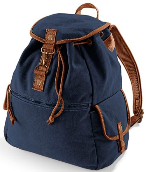 quadra vintage canvas backpack rucksack used look tasche ebay. Black Bedroom Furniture Sets. Home Design Ideas